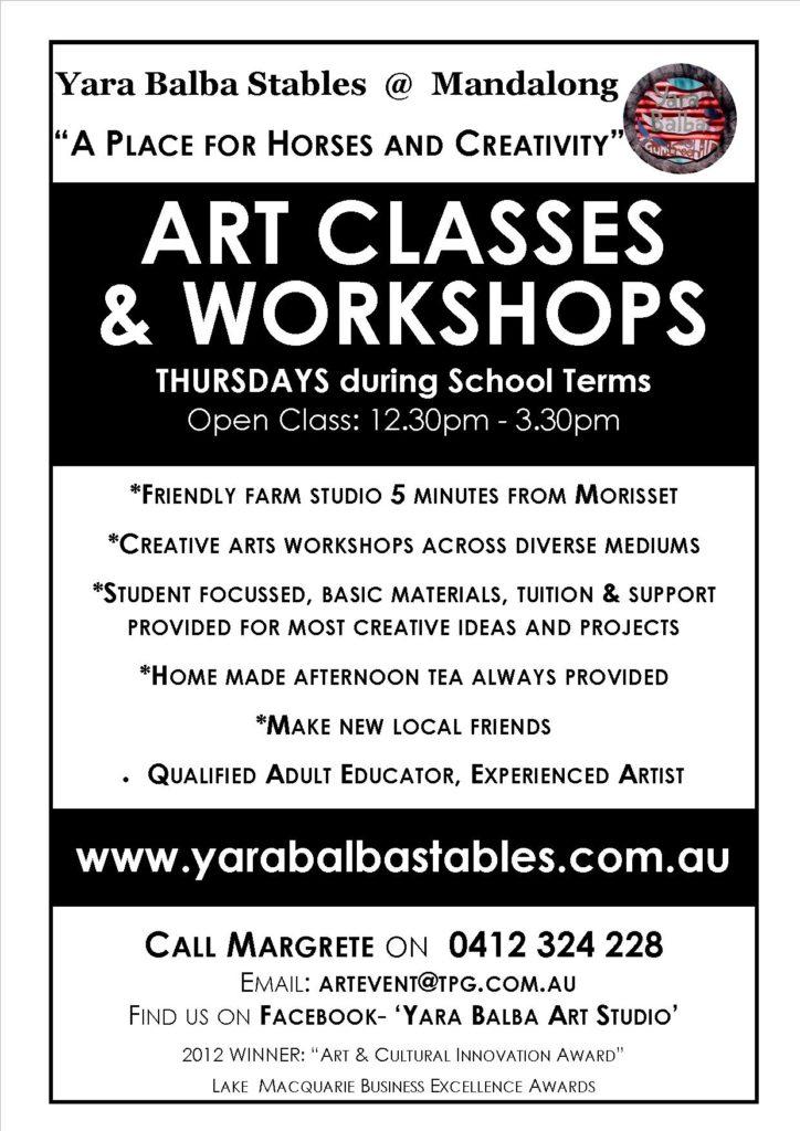 2016 Art Class Flyer