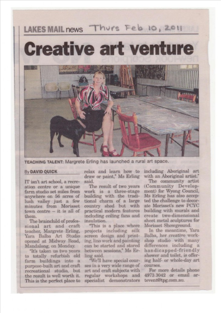 Creative-Art-Venture-10.2.2011-Lakes-Mail