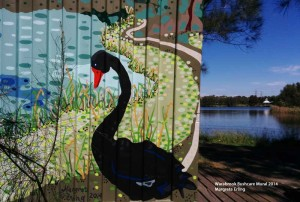 Warabrook Bushcare Mural is finished!